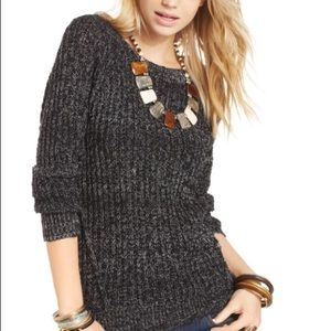 Free People Marled Knit Pullover